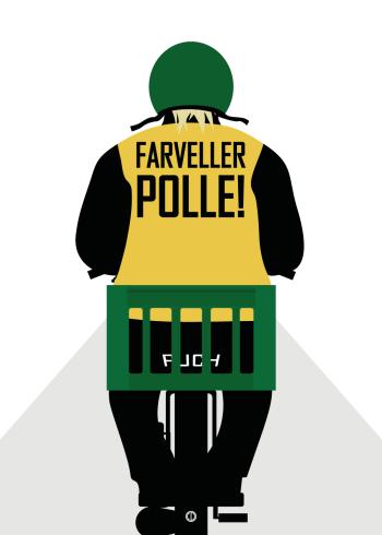 Polle fra snave citat plakat med citatet - Farveller polle