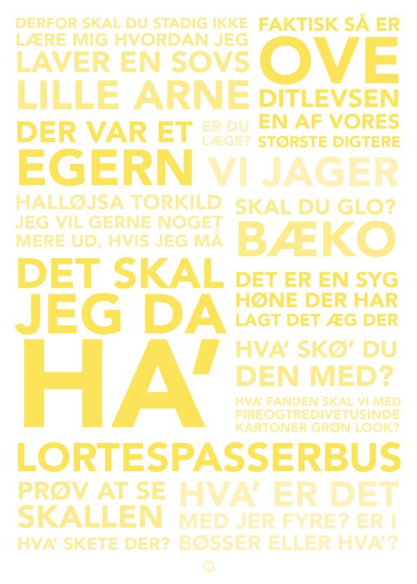 'Blinkende Lygter' komplet plakat