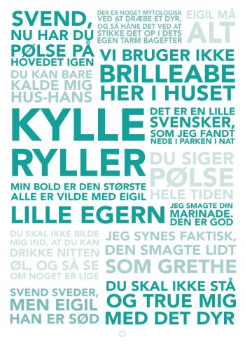 De Grønne Slagtere plakat med citater