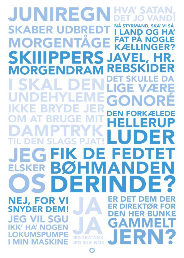 Ss martha plakat med citater fra filmen blå