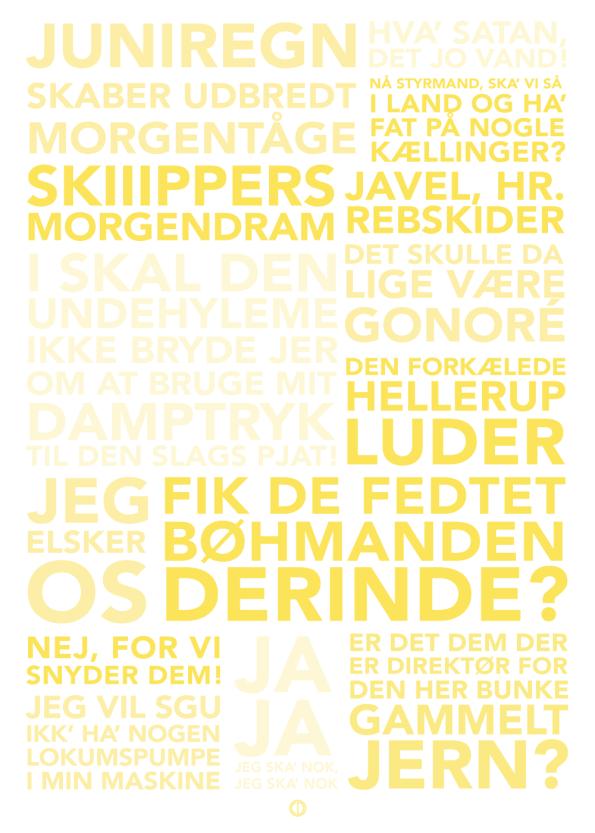 Ss martha plakat med citater fra filmen gul