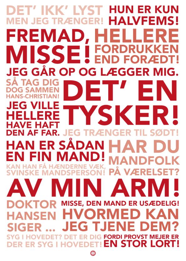Matador citat plakat med de bedste citater fra serien i rød