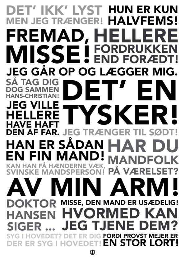 Matador citat plakat med de bedste citater fra serien i sort