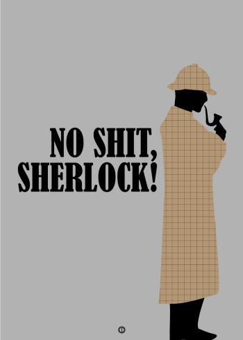 sjov citat plakat No shit sherlock