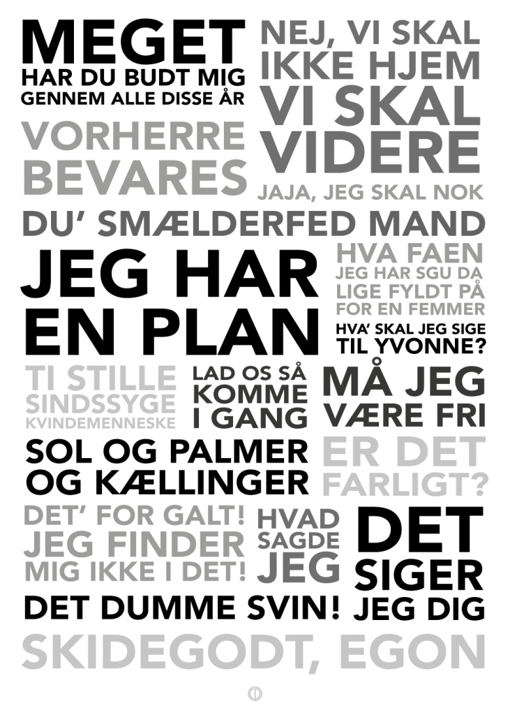 Olsen Banden plakater med alle de bedste citater