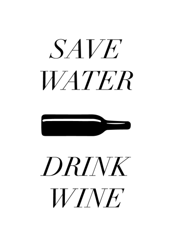 plakater med tekst der handler om vin