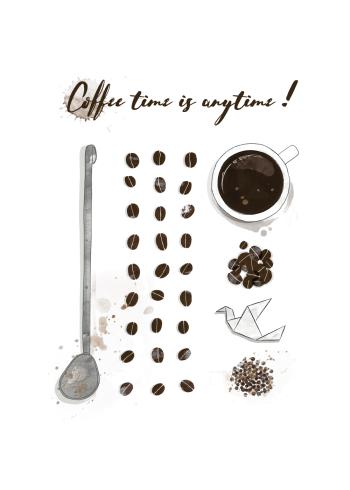 kaffe plakat med fint design