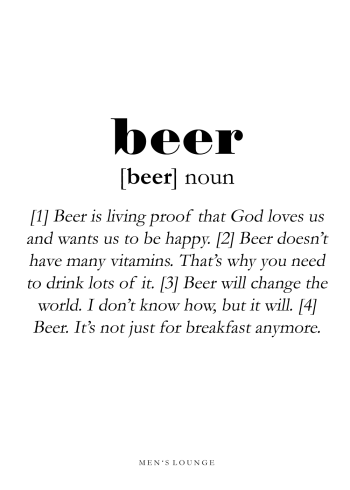 beer definition in english on poster