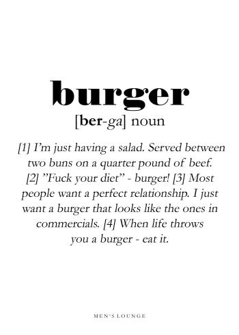 burger definition på engelsk