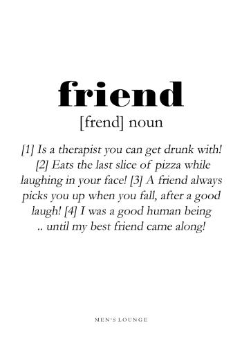 friend definitions plakat på engelsk