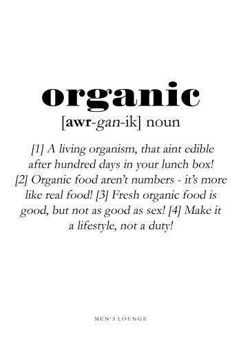 organic definitions plakat på engelsk
