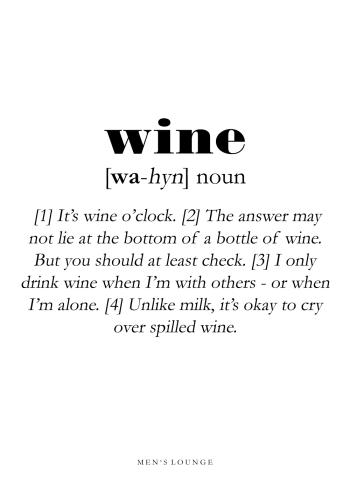 wine definitions plakat på engelsk