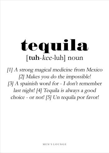 tequila definitions plakat på engelsk
