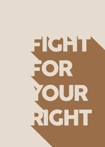 Smuk plakat med et smukt budskab om, at der skal være plads til alle, uanset race og hudfarve.