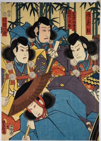 japanske mænd maleri