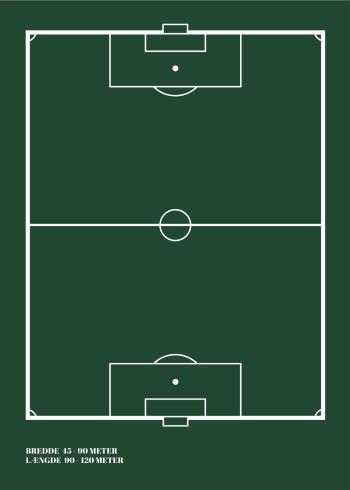 fodbold plakat i enkelt design