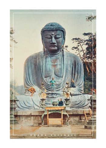 japanske fotokunst plakater med bronze buddha fra kamakura