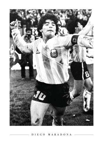 maradona plakat fodbold