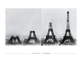 Eiffel tårnets opbygning på plakat