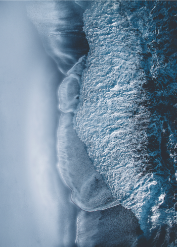 fotoplakat af blå bølger