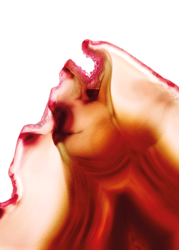 Rød agat sten krystal flamme