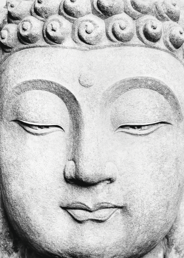 fotoplakat af buddha skulptur