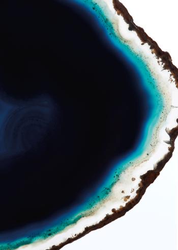 Blå agat sten plakat krystal