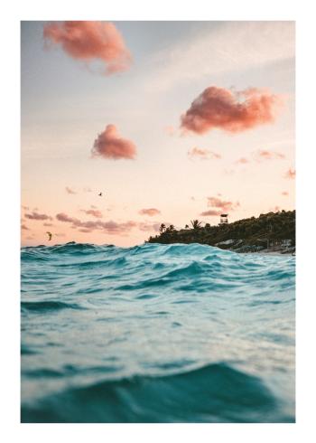 fotokunst plakater af eksotiske sommer himmel