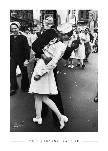 V-J day kiss plakat