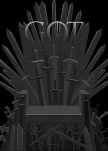 game of thrones plakater med tronen