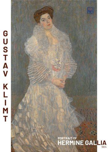 Maleriet portrætterer Hermaine Gallia. I maleriet er der brugt abstrakte og geometriske former i kjolen og i baggrunden