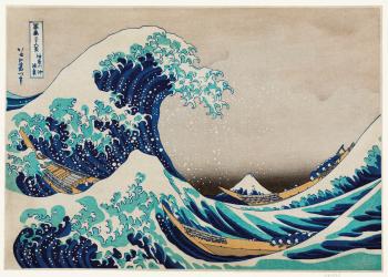 japansk kunst plakat med havet