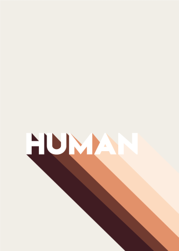 Denne human tekst plakat angivet i forskellige farvenuancer, som brun, beige og sort.