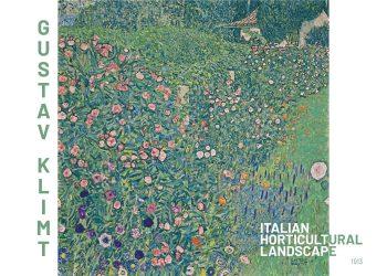 Maleriet forestiller et landskab med farverige blomster og et hus i baggrunden