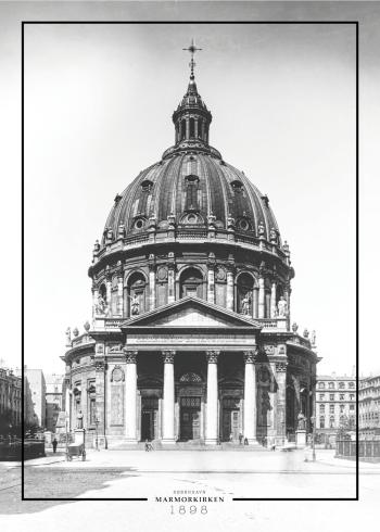 Plakat med gammelt billede af marmorkirken