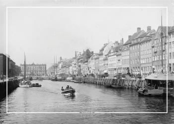 Plakat med gammelt billede af Nyhavn og d'Angleterre