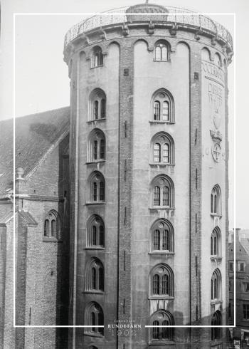Plakat med gammelt billede af Rundetårn