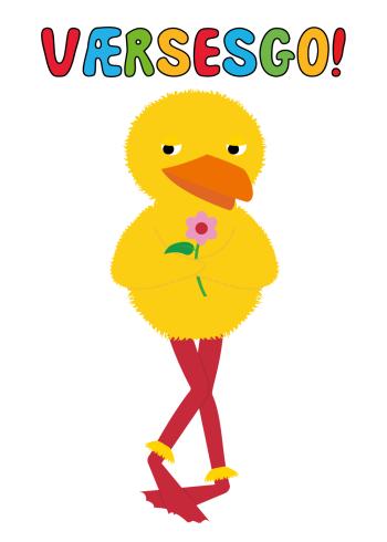 Kylling plakat fra Bamse og kylling med citatet værsesgo