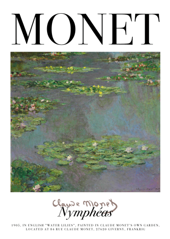 claude monet plakat
