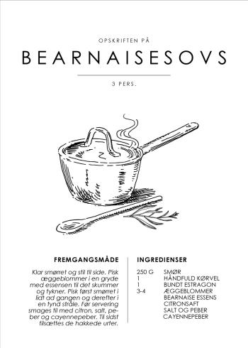 bearnaisesovs plakat opskrift