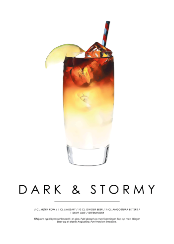 dark and stormy cocktail plakat