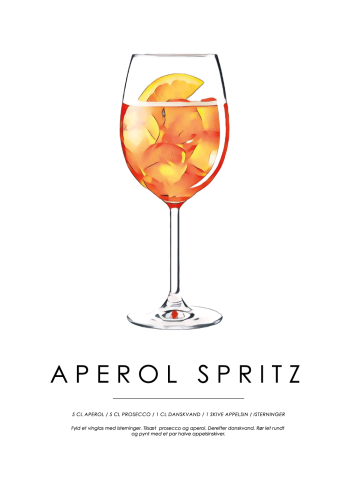 aperol spritz cocktail plakat