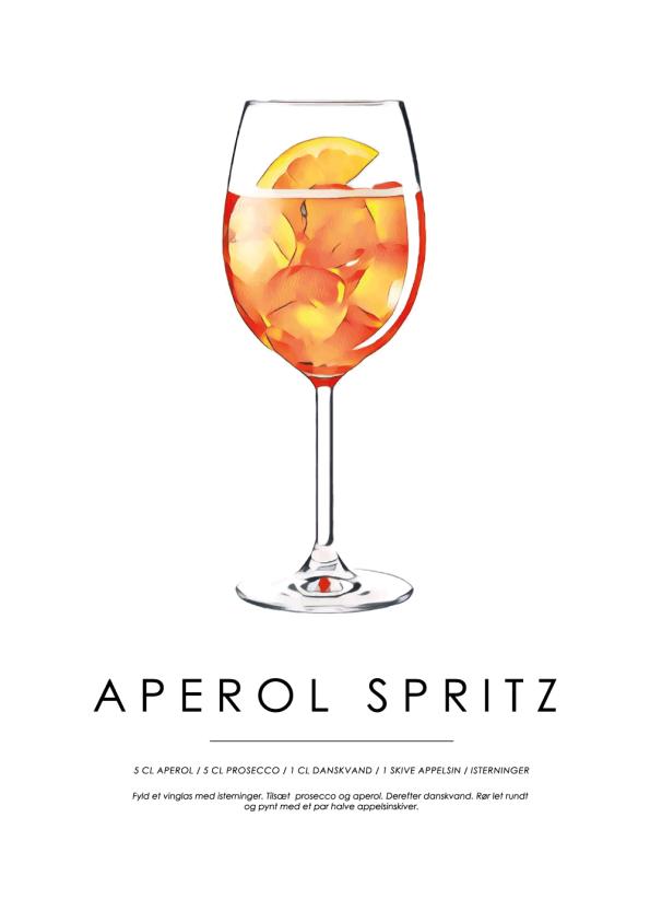 aperol spritz cocktail plakat