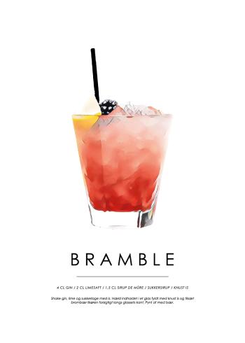 bramble cocktail plakat