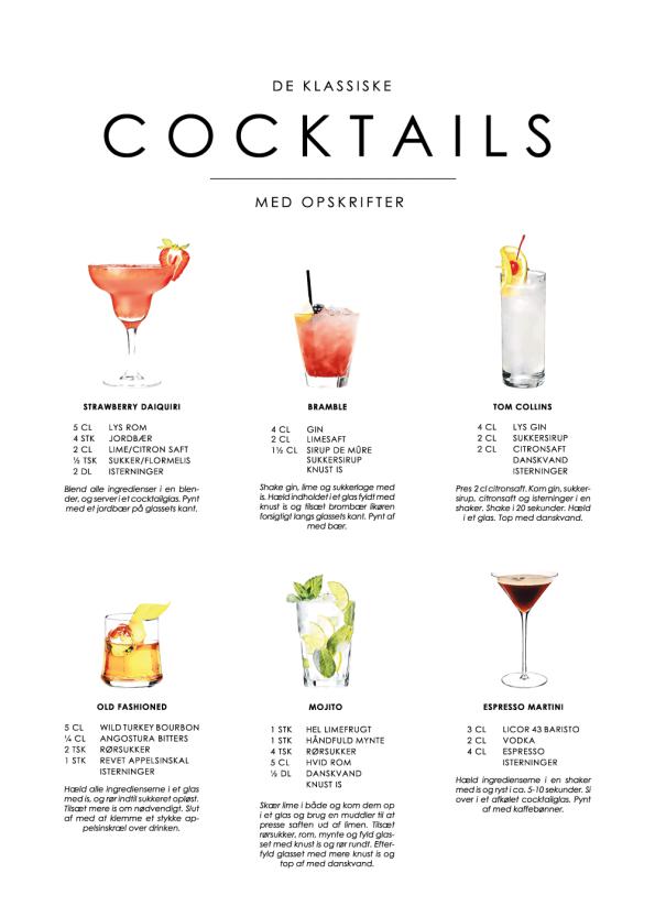 cocktails plakater