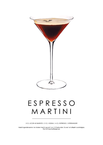 espresso martini cocktail plakat