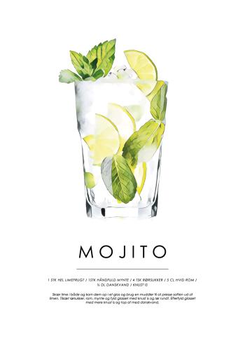 mojito cocktail plakat