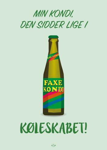 far jokes - grøn faxe kondi med sjove ordspil på plakater