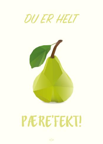 far joke plakat med en pære