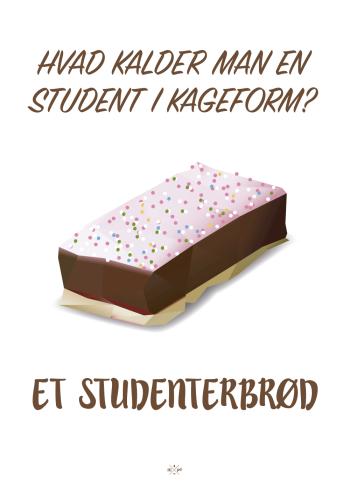 hvad kalder man en student i kageform, et studenterbrød